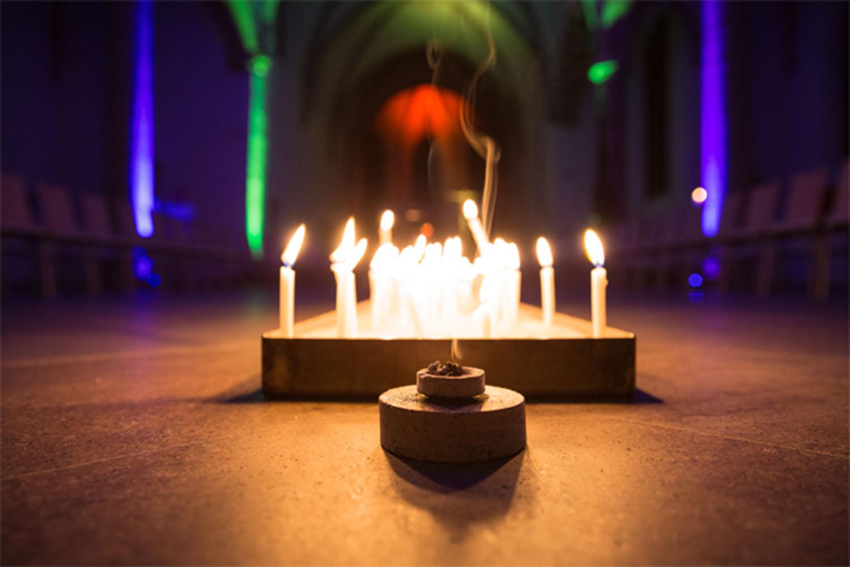 Kerzen in der Pfarrkriche St. Agnes