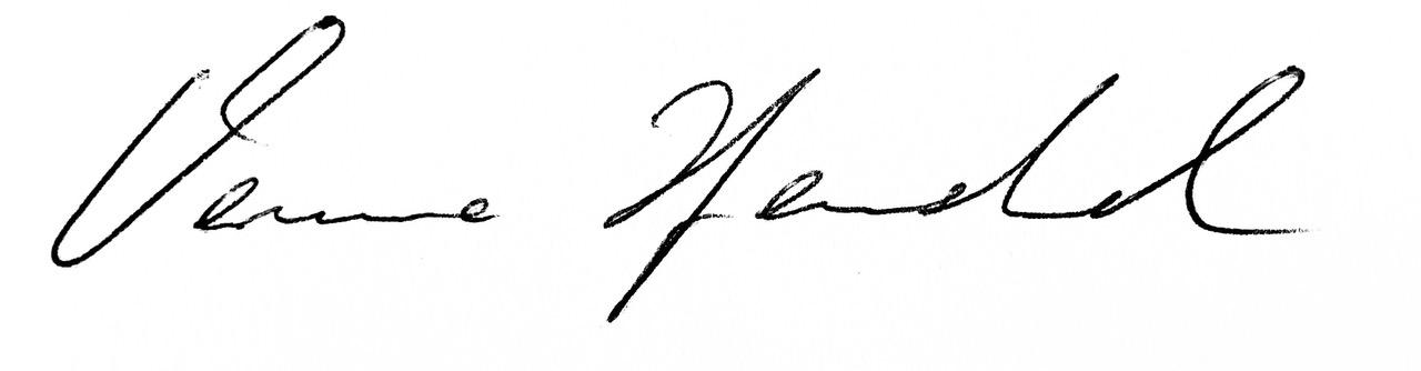 Unterschrift von Verena Henschel Gründerin von Velight
